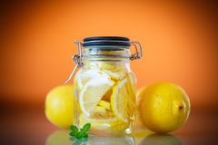 Pickled lemons in sugar syrup Royalty Free Stock Image
