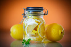 Pickled lemons in sugar syrup Stock Images