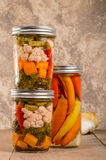 Pickled mixed vegetables home canning Royalty Free Stock Images