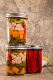 Pickled mixed vegetables home canning Stock Image