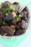 Pickled morels Stock Photo