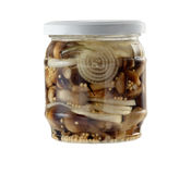 Pickled mushrooms Stock Photography