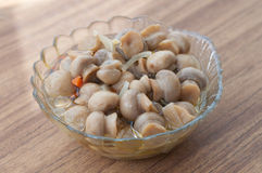 Pickled mushrooms Stock Image