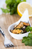 Pickled Mussels (with fresh herbs) Stock Images