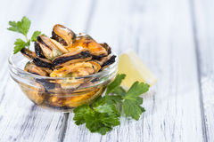 Pickled Mussels (with fresh herbs) Royalty Free Stock Photography