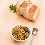 Pickled olive muffalatta salad with finely chopped cauliflower a Royalty Free Stock Image