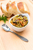 Pickled olive muffalatta salad with finely chopped cauliflower a Stock Image