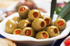 Pickled olives Stock Images