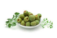pickled olives Stock Photography