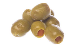 Pickled Olives Isolated Stock Photo