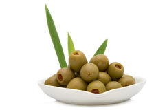 pickled olives Royalty Free Stock Photo