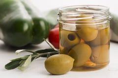 Pickled olives Stock Images