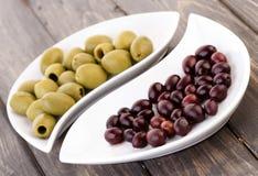 Pickled olives - studio shot Stock Photos