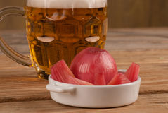Pickled onion tapa Royalty Free Stock Photography