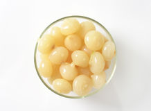 Pickled onions. Bowl of small pickled onions Royalty Free Stock Images