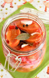 Pickled persimmon royalty free stock photos