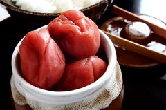 Pickled plum in Japan, Umeboshi Stock Images