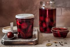 Pickled Plums stock photos