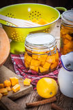 Pickled pumpkin. Royalty Free Stock Image