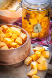 Pickled pumpkin. Royalty Free Stock Photography