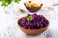 Pickled red cabbage Royalty Free Stock Photos