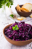 Pickled red cabbage Royalty Free Stock Image