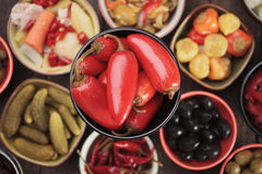 Pickled red jalapenos Royalty Free Stock Photo