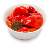 Pickled red peppers Royalty Free Stock Photo