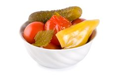 Pickled Red Tomatoes Royalty Free Stock Photography