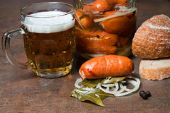Pickled sausage , Utopenec Stock Images