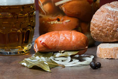 Pickled sausage , Utopenec Royalty Free Stock Photos