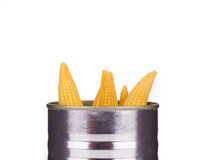 Pickled small corn. Royalty Free Stock Photos