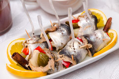 Pickled Spicy Herring Royalty Free Stock Photos