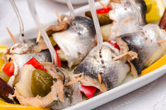 Pickled Spicy Herring Royalty Free Stock Image