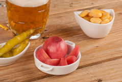 Pickled tapas Royalty Free Stock Photos