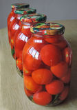 Pickled tomatoes Royalty Free Stock Photos