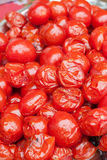 Pickled tomatoes. Pickled red tomatoes close-up Royalty Free Stock Image