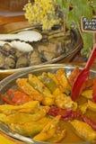 Pickled vegetable salad at market. Stock Photos