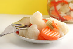 Pickled vegetables Stock Photography