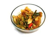 Pickled Vegetables. A Bowl of Pickled Vegetables Stock Images