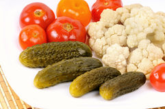 Pickled vegetables Stock Photo