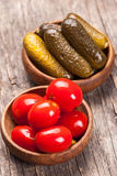The pickled vegetables Stock Images