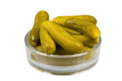 Pickled vegetables - gherkins Royalty Free Stock Photo