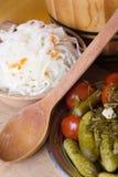 Pickled   vegetables  homemade Stock Images