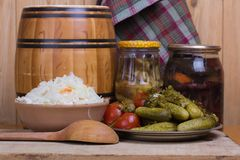 Pickled   vegetables  homemade Royalty Free Stock Image