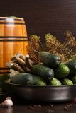Pickled  Vegetables  homemade on the table Royalty Free Stock Photo