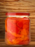Pickled vegetables in jar Royalty Free Stock Photography
