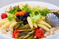 Pickled vegetables salad Royalty Free Stock Photo