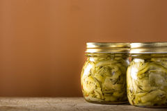Pickled zucchini Stock Images