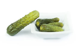 Pickles. Close up in a bowl Stock Images